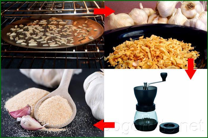 Рецепт порошка из чеснока