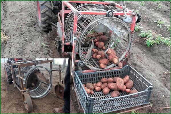 Копалка картофеля барабанного типа